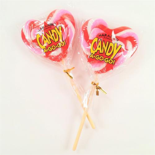 ハート型ロリーポップキャンディー(レッド×ピンク×ホワイト)